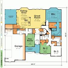 House Plans Single Story House Plan Single Story Home Floor Plans One With Open For