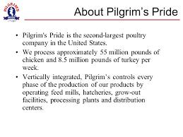 pilgrim pride application pilgrim s pride we re about our food ppt