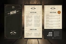 elegant food menu 5 brochure templates creative market