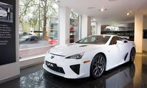lexus showroom lexus lfa arrives in park showroom autoevolution