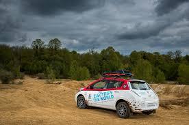 nissan pathfinder quarter mile modified nissan leaf enters 10 000 mile mongol rally automobile