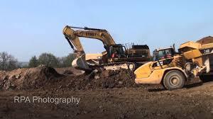stokey plant hire caterpillar 365clme u0026 740 trucks youtube