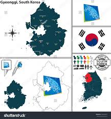map of province vector map province gyeonggi flags location stock vector 704192059