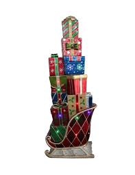 northlight led lighted commercial grade sleigh stacked with