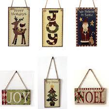 hawaiian decor for home happy christmas wooden pendant door decorations hanging party