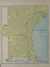 Milwaukee Wisconsin Map by Prints Old U0026 Rare Milwaukee Wi Page