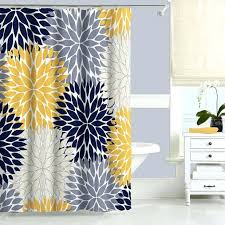 Blue And Yellow Shower Curtains Gray And Yellow Shower Curtains Nautical Shower Curtain For Boys