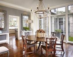 Chippendale Dining Room Furniture Smoke Gray Wall Color Rich Hardwood Floors Antique Circular Dining