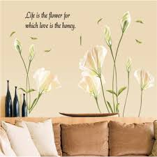 popular lily wall decal buy cheap lily wall decal lots from china ay9152 lily vinyl wall stickers for kids rooms children home decor sofa living wall decal child
