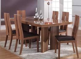 High Back Dining Room Chairs by Modern Wooden Dining Room With Hardwood Table And High Back Chairs In