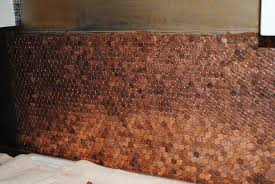 remarkable penny backsplash model in home design ideas with penny