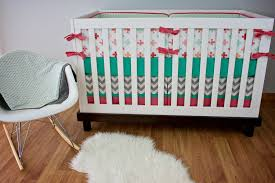 Navy White Coral Gray Bedroom Bedroom White Crib With Coral And Turquoise Bedding Plus Wooden