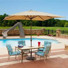 Patio Umbrella Tables by Island Umbrella Caspian 8 Ft X 10 Ft Rectangular Market Push