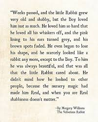 velveteen rabbit nursery velveteen rabbit quote 11x14 print inspirational