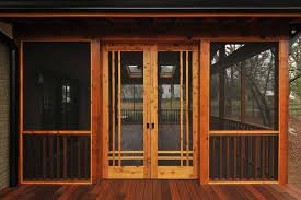 Sliding Screen Patio Doors Craftsman Screen Porch Craftsman Atlanta By Innovative
