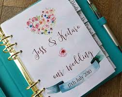 wedding planner binder wedding planner etsy