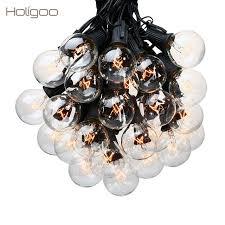 Clear Patio Lights Holigoo 25ft G40 Bulb Globe String Lights With Clear Bulb Backyard
