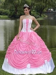 dresses for sweet 15 pink and white ups sweet 15 dresses with made flowers