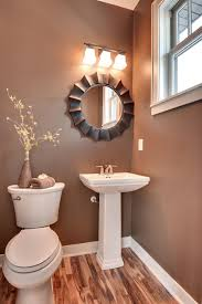 small bathroom wall decor ideas glass door gold accent and
