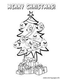 angry birds christmas tree coloring pages printable