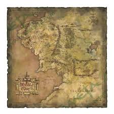 Lord Of The Rings World Map by The Lord Of The Rings Map Of Middle Earth By Weta Wbshop Com
