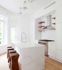 marble kitchen islands best 25 waterfall countertop ideas on marble kitchen