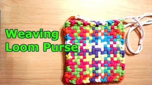 weaving loom purse youtube