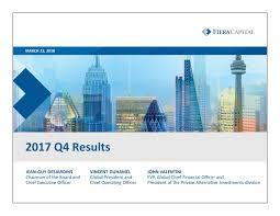 Seeking Cap 1 Fiera Cap Corp 2017 Q4 Results Earnings Call Slides Fiera