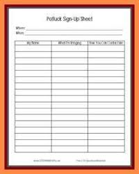 100 potluck sheet template thanksgiving food sign up sheet