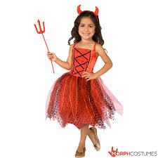 girls devil costume red light up morph costumes uk