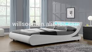 modern european s shaped bedroom furniture design double size faux