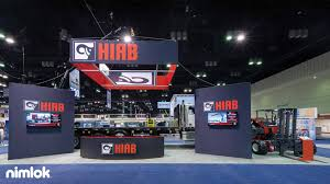 this 30x80 island trade show booth is an example of what nimlok