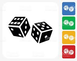 dice icon flat graphic design stock vector more images of