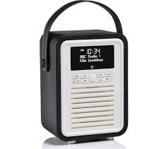 buy vq retro mini portable dab fm bluetooth clock radio black