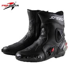 biker riding boots pro biker speed bikers motorcycle boots wear resistant microfiber