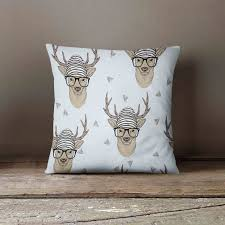 Stag Cushions Deer Pillow Decorative Pillow Slipcover Deer Camo Deer
