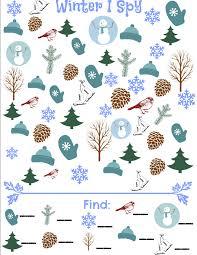 winter i spy game simple play ideas