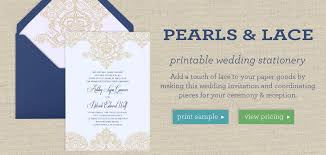invitation wedding template pearls lace printable wedding template collection