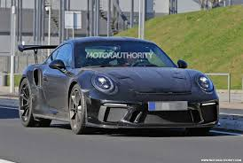 porsche gtr 2017 2018 porsche 911 gt3 rs spy shots and video