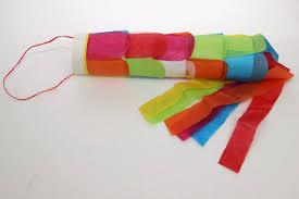 diy tissue paper windsock craft