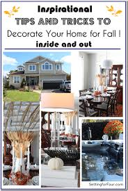 Decorating Your Home For Fall How To Create And Decorate A Fall Vignette Setting For Four