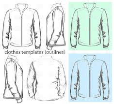 men u0027s sweatshirt with zipper outlines vector clipart image 5306