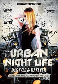 download the urban night life free flyer template