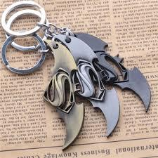 batman u0026 superman alloy with chain for key metal craft military
