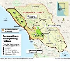 Sonoma State Map by Drawing New Lines For Wine On The Sonoma Coast Sfgate