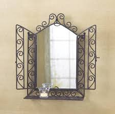 Home Decorating Mirrors by Rod Iron Living Room Wrought Iron Wall Mirror Decor Interior