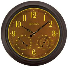 weather master wall clock by bulova weather u0026 maritime clocks