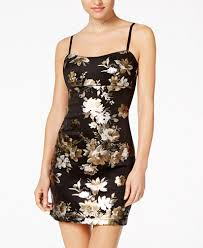 teeze me juniors u0027 metallic floral bodycon dress juniors dresses