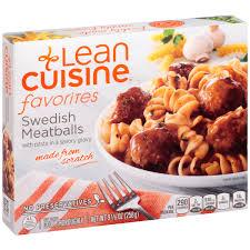 liant cuisine lean cuisine favorites meatballs 9 125 oz box walmart com