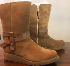 ugg australia noira chestnut sheepskin ugg australia leather motorcycle boots for ebay